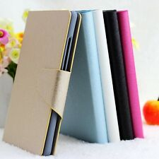 For NOKIA Microsoft Lumia 900 Luxury Silk PU Leather Flip Wallet Case Cover
