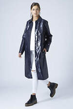 TOPSHOP NAVY RAIN COAT MAC TRENCH UK8 UK10 EUR36 EUR38 RRP £135