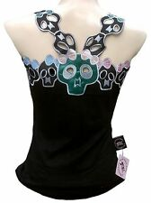 ROCKABILLY PUNK SCENE SKIRT BABY Sugar Cute Skull Girls ViP TANK TOP SHIRT S/M/L
