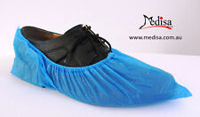 Disposable Plastic Shoe Covers Overshoes Waterproof Pkt of 50/ 100 Pairs