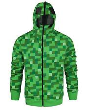 Official Minecraft Creeper Full Face Men's Hoodie