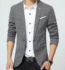 New Fashion Men Casual Slim fit One Button Cotton Blend Suit Blazer Coat Jacket