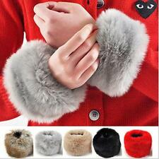 Winter New Fur Furry Faux Rabbit Fur  Warm  Oversleeve Wrist Cuff Wear