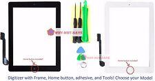 Touch Glass Screen Digitizer Replacement part with Home button Frame for ipad 3