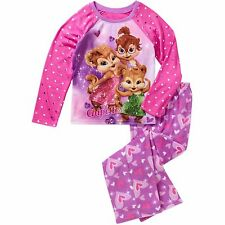 New Girls The Chipettes 2 PC Pajama Set Fleece Pant Poly Top 6/6X 7/8 10/12