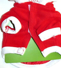 Dog Coat Santa Claus Pet Winter Jacket Warm Christmas Hoodie XS-S-M NWT