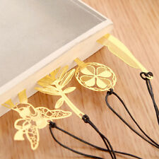 Gold Plated Hollow Feather Leaf Key Snowflake Bookmark Book Magazine Accessorie