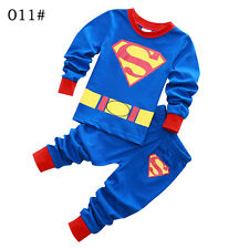 """Superman ""Boys Toddler Kids Pajamas Sleepwear Pyjamas T-shirt Costume Set"