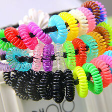 10pcs Girl Elastic Rubber Hair Ties Band Rope Ponytail Holder~Multi-color Black