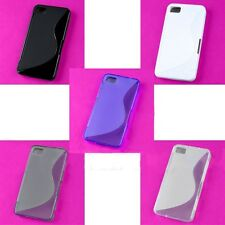 Wholesale Lot Colorful S Back Skin Case TPU Hard Cover Protector Blackberry Z10