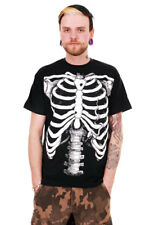 White Skeleton t-shirt Punk/Rock  Emo