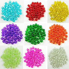 Wholesale 100Pcs 4mm 6mm 8mm Transparent Round Glass Spacer Loose Beads Jewelry