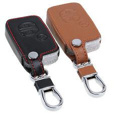 Leather Car Key Chain Holder Protector For Subaru BRZ Forester Outback Legacy