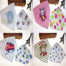 New Baby  Bibs/  Cute Towel 2 Layer Waterproof Two Pieces Packed/ Baby Lunch Bib