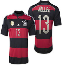 ADIDAS THOMAS MULLER GERMANY 4 STAR AWAY JERSEY FIFA WORLD CUP 2014 CHAMPIONS.