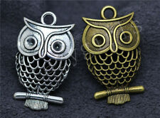 5/20/100pcs Tibetan Silver Lovely Owl Jewelry Finding Charms Pendant DIY 32x19mm