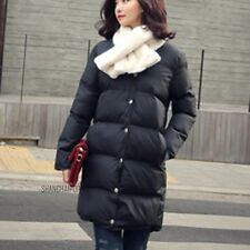 Women Puffer Chunky Coat Jacket Padded Quilt Winter Warm Long Outerwear Parka