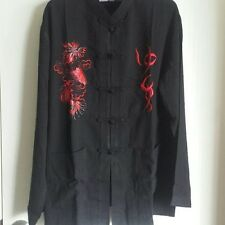 Chinese Traditional Men Kung Fu Martial Arts Jacket Suit Set w/ Pants Dragon