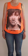 Rihanna Shirt T-Shirt Lady Girl Vest Top Rihanna Mustaches Love Peace