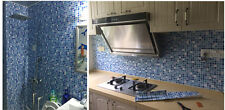 Self-adhesive Mosaic Wall Paper Sticker Tile Vinyl Kitchen Bathroom Home Decor
