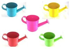 Bright Plain Small Metal Zinc Watering Can Plant Pot Kids Garden Watering Can