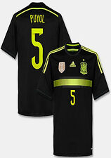 ADIDAS CARLES PUYOL SPAIN AWAY JERSEY FIFA WORLD CUP BRAZIL 2014