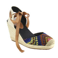 C LABEL AB10 Women's Espadrille Lace Up Slingback Wedge Sandals New In Box