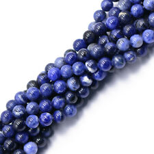 "Natural Round Beads Spacer Loose Sodalite Gemstone Beads Strand 15"" 4mm 6mm 8mm"