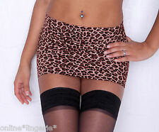 MINI SKIRT Micro LEOPARD Short Lycra Party Club Bodycon Womens Animal Booty CS83