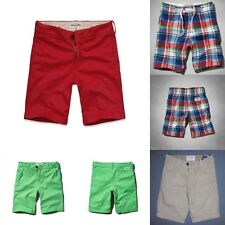 ABERCROMBIE kids BOYS SHORTS size 12  16 NWT BLUE red green KHAKI
