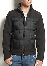 Guess Coat Softshell Quilted inset Jacket Black 100% authentic OBO