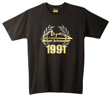 """Michael Schumacher T-Shirt 2012""""Records of a Champion""""Logo and Leaves MS-12-131"""