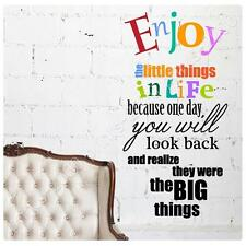STICKER Alonline Designs Enjoy the little things in life print Removable decor