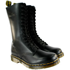 Womens Dr Martens 1914 Mid Calf Lace Up Black Leather Military Boot UK Sizes 3-8