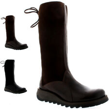 Womens Fly London Sato Rug Mid Calf Fur Lined Winter Snow Warm Boots UK 3-9