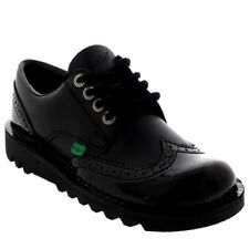 Womens Kickers Kick Lo Brogue Core Leather Patent Lace Up Office Shoes US 5.5-11