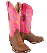 womens  western genuine cow hide leather cowboy cowgirl boots rodeo western