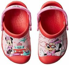 NEW Girls Crocs Minnie Jet Set Clogs Shoes 6/7 8/9 10/11 12/13 Red