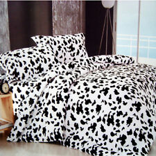 Cow Print Duvet Doona Quilt Cover Set Queen/Double/King Size Cotton Bed Covers