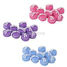 10 Macaron Polymer Clay Flatback Buttons Cabochons Craft Embellishment Findings