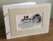 Personalised scrapbook photo album Memory book, 14th birthday present or any age