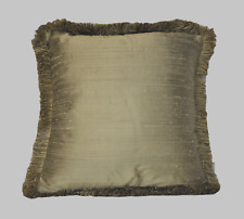 silk decorative square complete throw pillows with fringe for sofa or couch usa