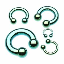 Basic Green Horseshoe Circular Barbell 316L Surgical Steel (Sold Individually)