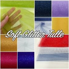 Christmas Sparkle Glitter Nylon Netting Net Tulle 150cm Wide Fabric (By Metre)