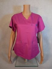 Med Couture Signature Scrub Top. Style 8403. Lotus Pink/Deepsea. *NEW* Free Ship