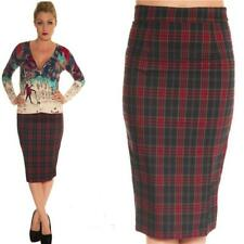 COLLECTIF FIONA 50'S CHERRY WIGGLE PENCIL SKIRT VINTAGE  SKIRT ROCKABILLY