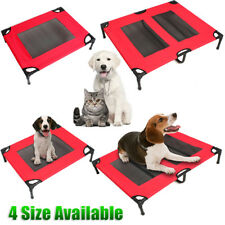 Pet Dog Trampoline Hammock Bed Cat Puppy Cover Foldable Steel Frame Red S M L XL