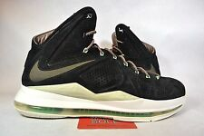 Lebron 11 Elite Navy Atomic Green Black 616175 607 Size 10.5
