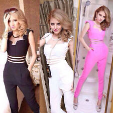 Sexy Women Clubwear Bodycon Bodysuit Bodywear Long Sleeve Jumpsuits Romper
