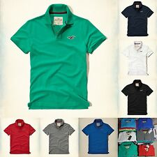 HOLLISTER BY ABERCROMBIE Mens Contrast Icon POLO T SHIRT ALL SIZES NWT NEW 2016